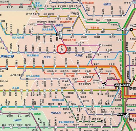 図 西武 路線 新宿 線